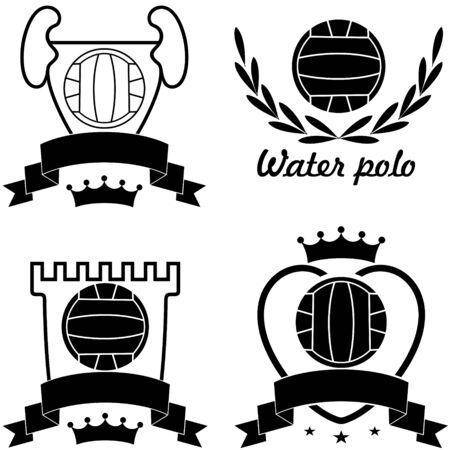 waterpolo: Waterpolo illustratie