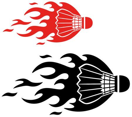 Badminton icon  Иллюстрация