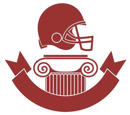burgundy ribbon: Football americano Vettoriali