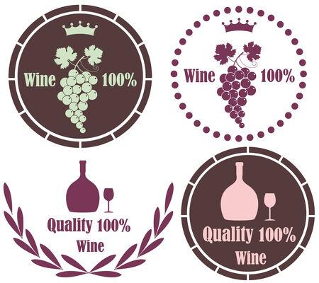 Wine concept illustration  Vector