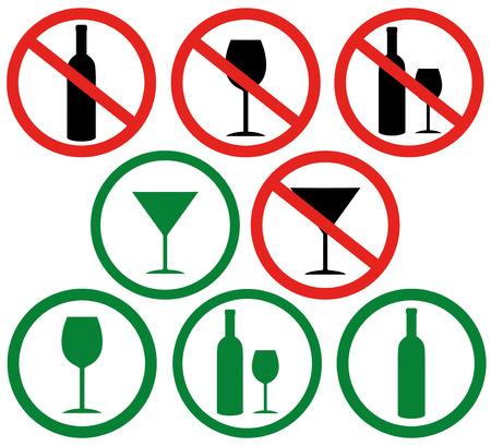 dont: Dont drink Illustration