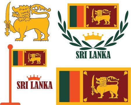 sri: Sri Lanka illustration  Illustration