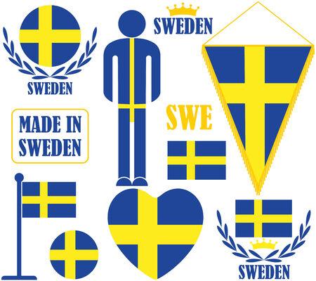Sweden illustration  Vector