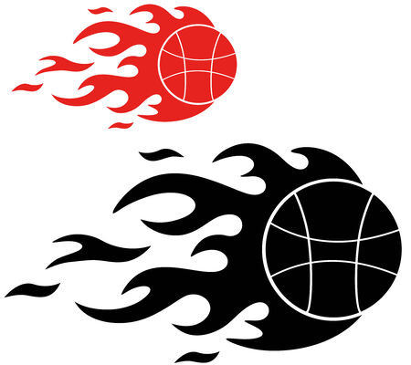 basketball ball in fire: Basketball