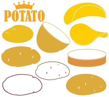 potato chip: Potato Illustration