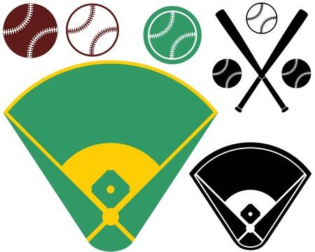 baseball diamond: Campo de b�isbol