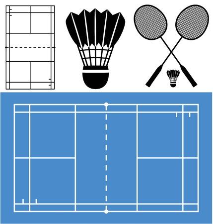 shuttlecock: Badminton Illustration