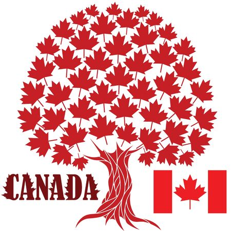 canada flag: Maple Tree Illustration