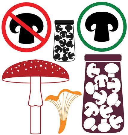 grebe: Mushroom Illustration