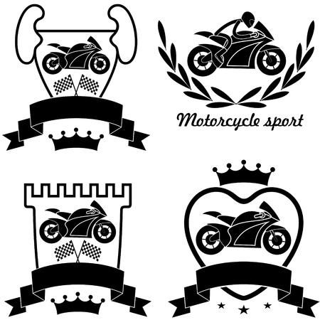 rewarding: Motorcycle sport Illustration