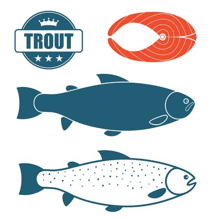 blue fish: Trout