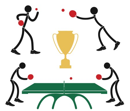 tennis de table: Tennis de table Illustration