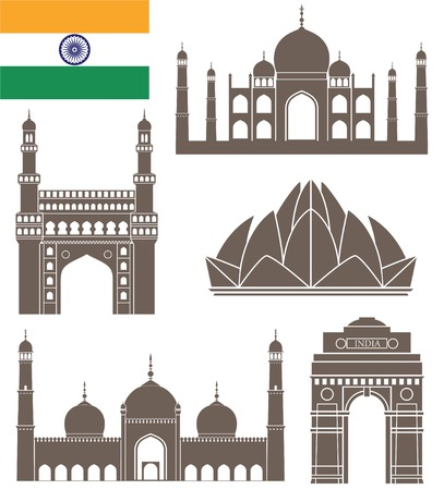 monument in india: India Illustration