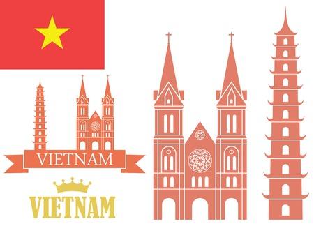 vietnam flag: Vietnam Illustration