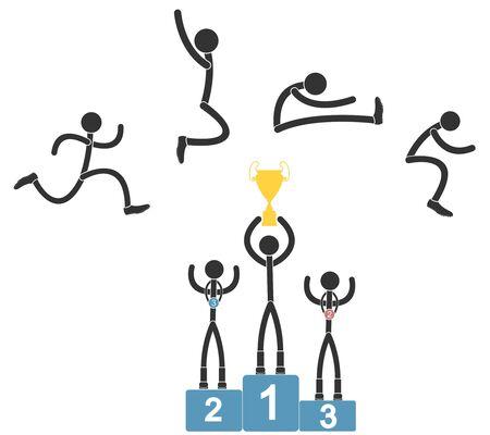 salto largo: Salto de longitud Vectores