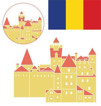 bran: Romania Illustration