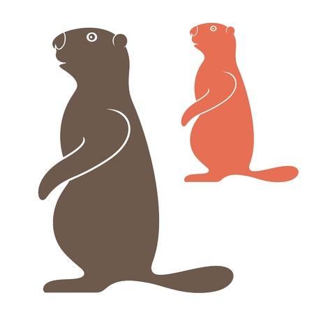 abstract animal: Marmot
