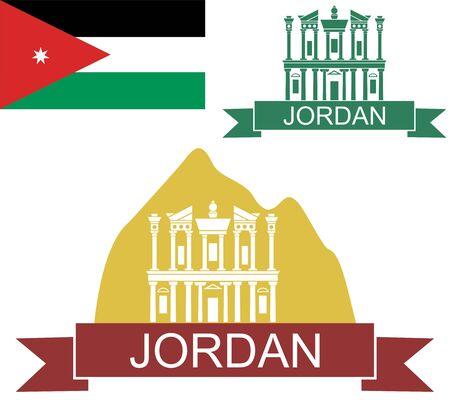 jordanian: Jordanië Stock Illustratie
