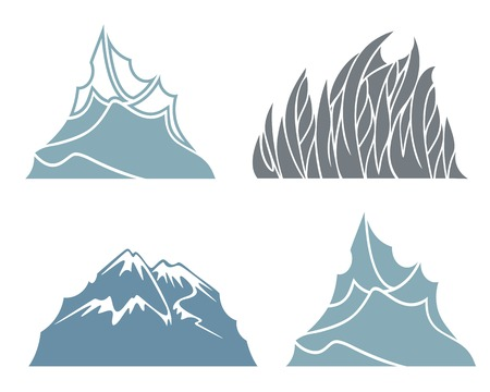 european alps: Mountain Illustration