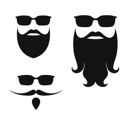 funny bearded man: Beard Illustration