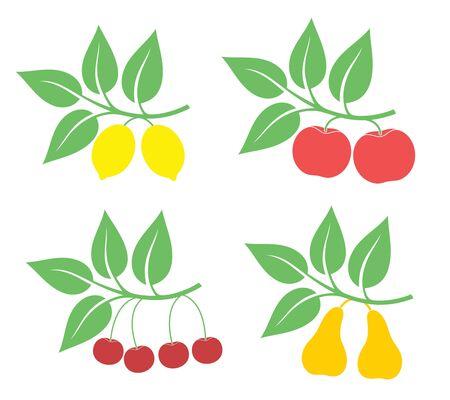 fruitschaal: Fruit Stock Illustratie