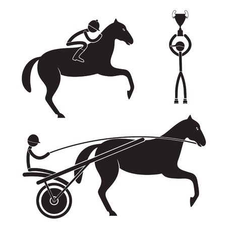 drover: Horse racing Illustration