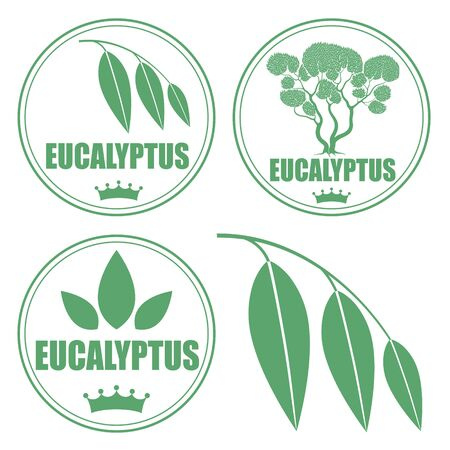 tree silhouettes: Eucalyptus Illustration