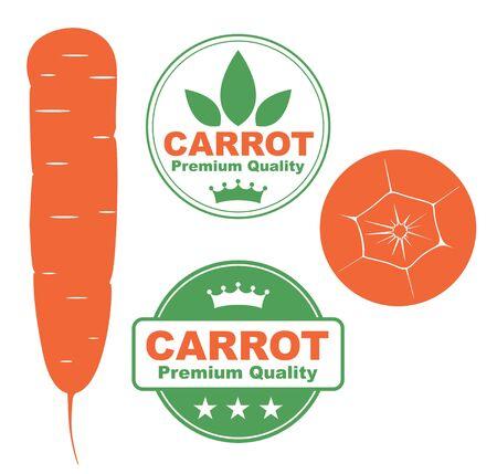 burgundy ribbon: Carrot
