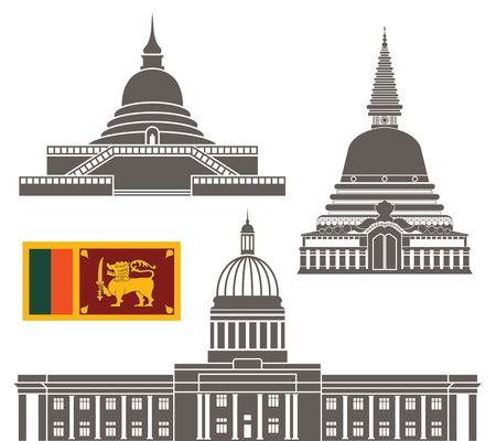 colombo: sri lanka Illustration