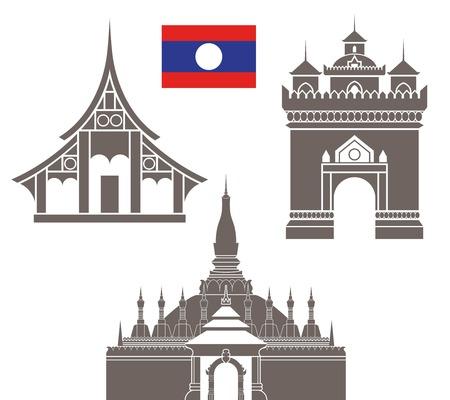 stupa: laos Illustration