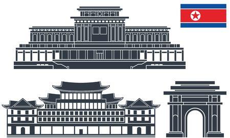 north korea Иллюстрация