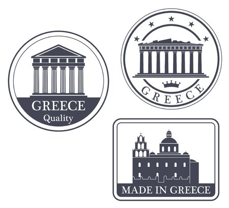 made in greece stamp: greece