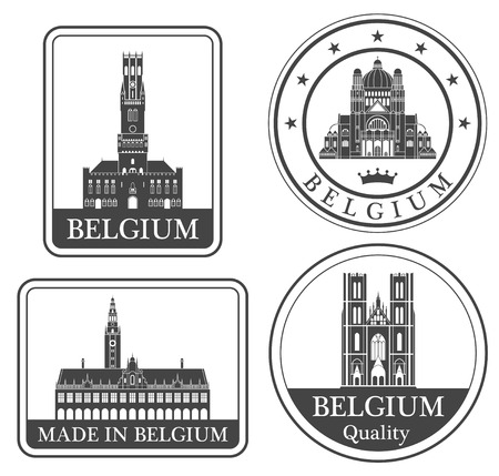rubber stamp: belgium Illustration