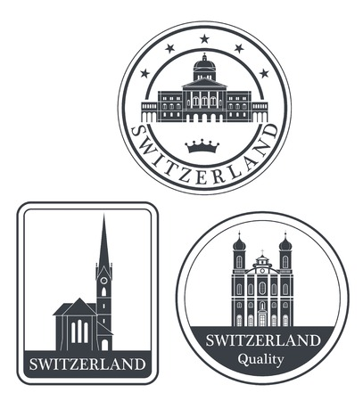 rubber stamp: switzerland Illustration