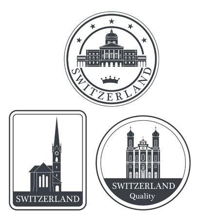 mountaintop: switzerland Illustration