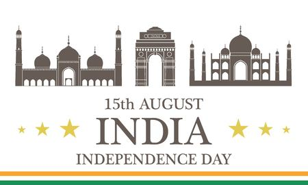 Independence Day. India Illustration