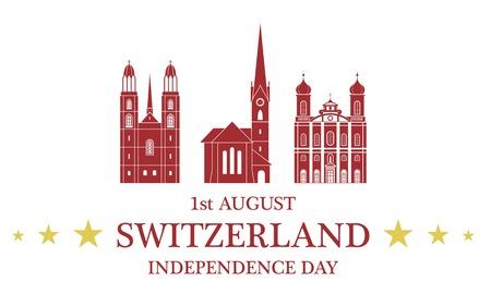 swiss alps: Independence Day. Switzerland