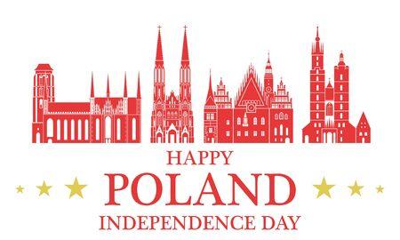 gdansk: Independence Day. Poland Illustration