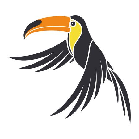 nestling birds: toucan Illustration