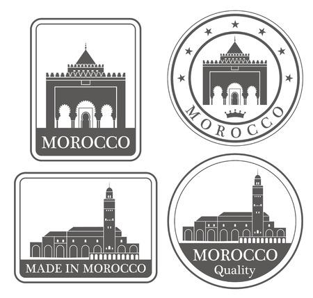 Marokko Vector Illustratie