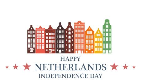 watermill: Netherlands independence day Illustration