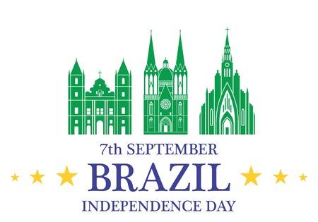 Independence Day. Brazil Stock Illustratie