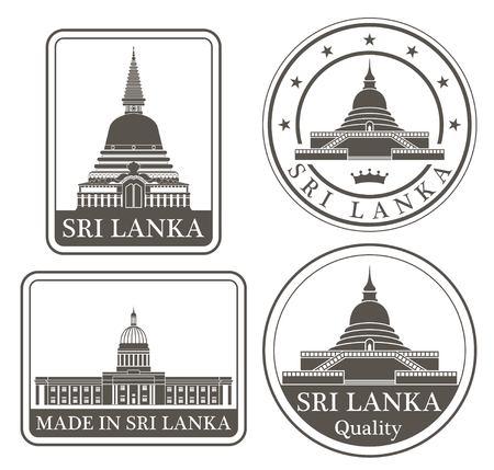 stupa: sri lanka Illustration