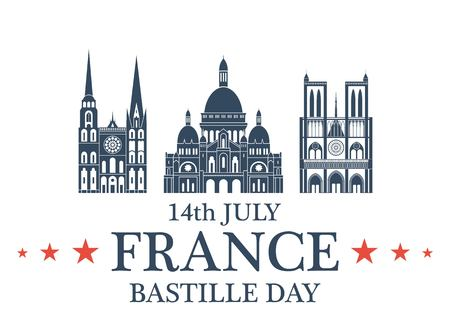 coeur: Independence Day. France Illustration