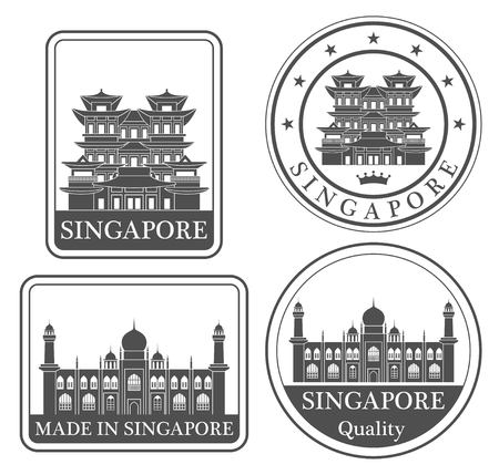 singapore culture: Badge with Singapore wording
