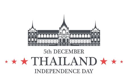 pattani thailand: Independence Day. Thailand Vectores