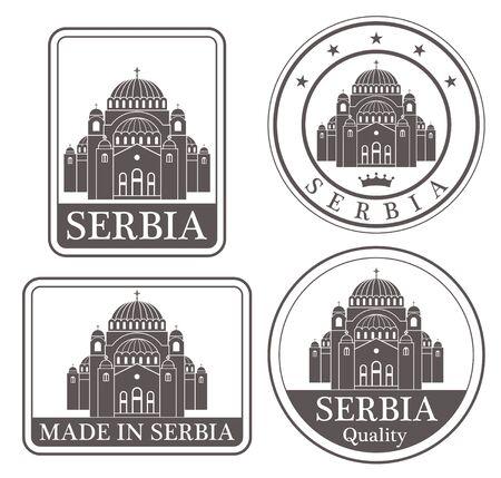 serbia: serbia Illustration