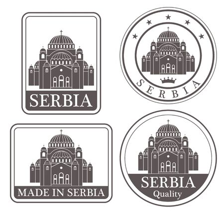 serbia Illustration