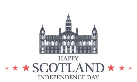 Independence Day. Scotland Illustration