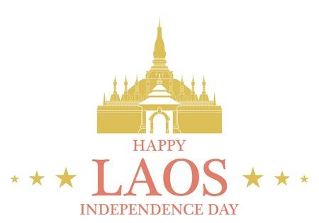 stupa: Independence Day. Laos